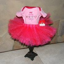 My First Valentines Day Tutu Skirt and Onesie Set
