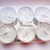 Glittery Tealight Candles
