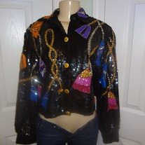 SOLD OUT!! Sequins 90's Vintage Jacket Size M!!