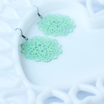 Mint Filigree Star Shaped Earrings