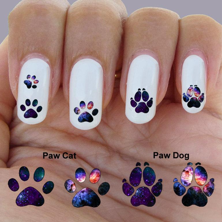 Cat paw nail galaxy paw nail art waterslide nail decal set of cat paw nail galaxy paw nail art waterslide nail decal set of prinsesfo Image collections