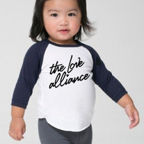 Infant 3/4 Sleeve Raglan (White/Black)