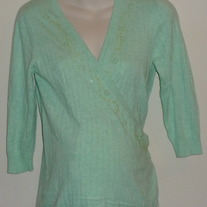 Green Sweater with Beads/Sequins-Old Navy Maternity Size Small