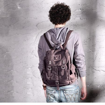 Best distressed pigskin leather weekender backpack unisex ...