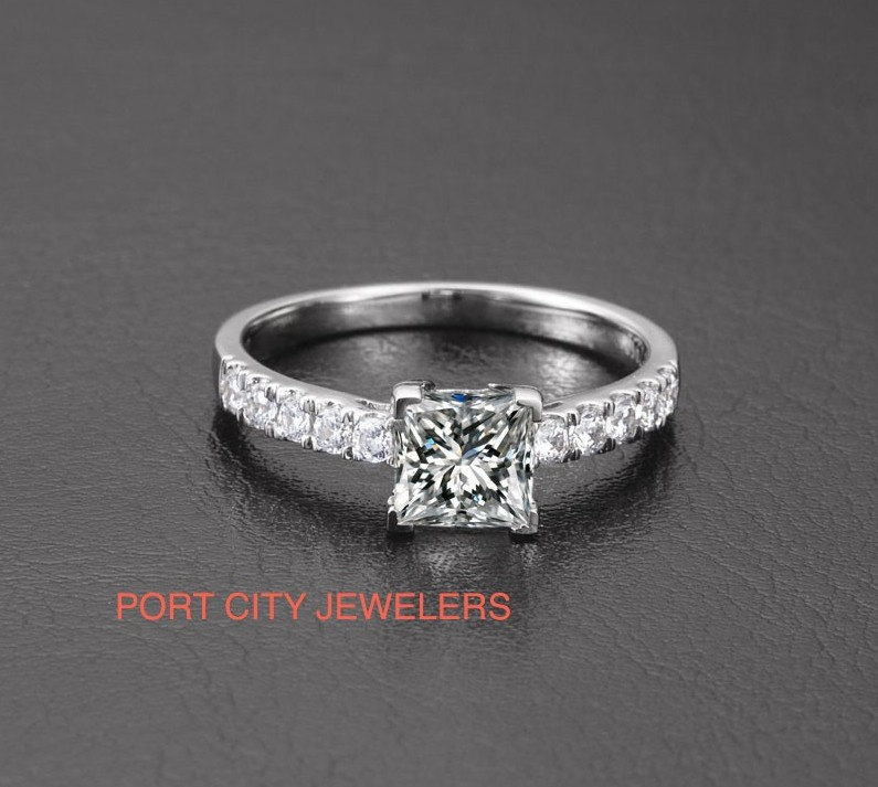 products large rings stackable anniversary wedding white diamond cut prong gold ring jewelry womens brilliant band