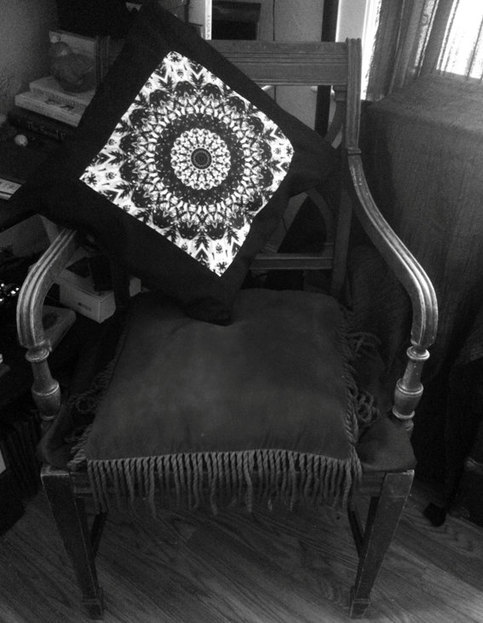 Mandala Pillow Cover Art B W Mandala Home Decor Dorm