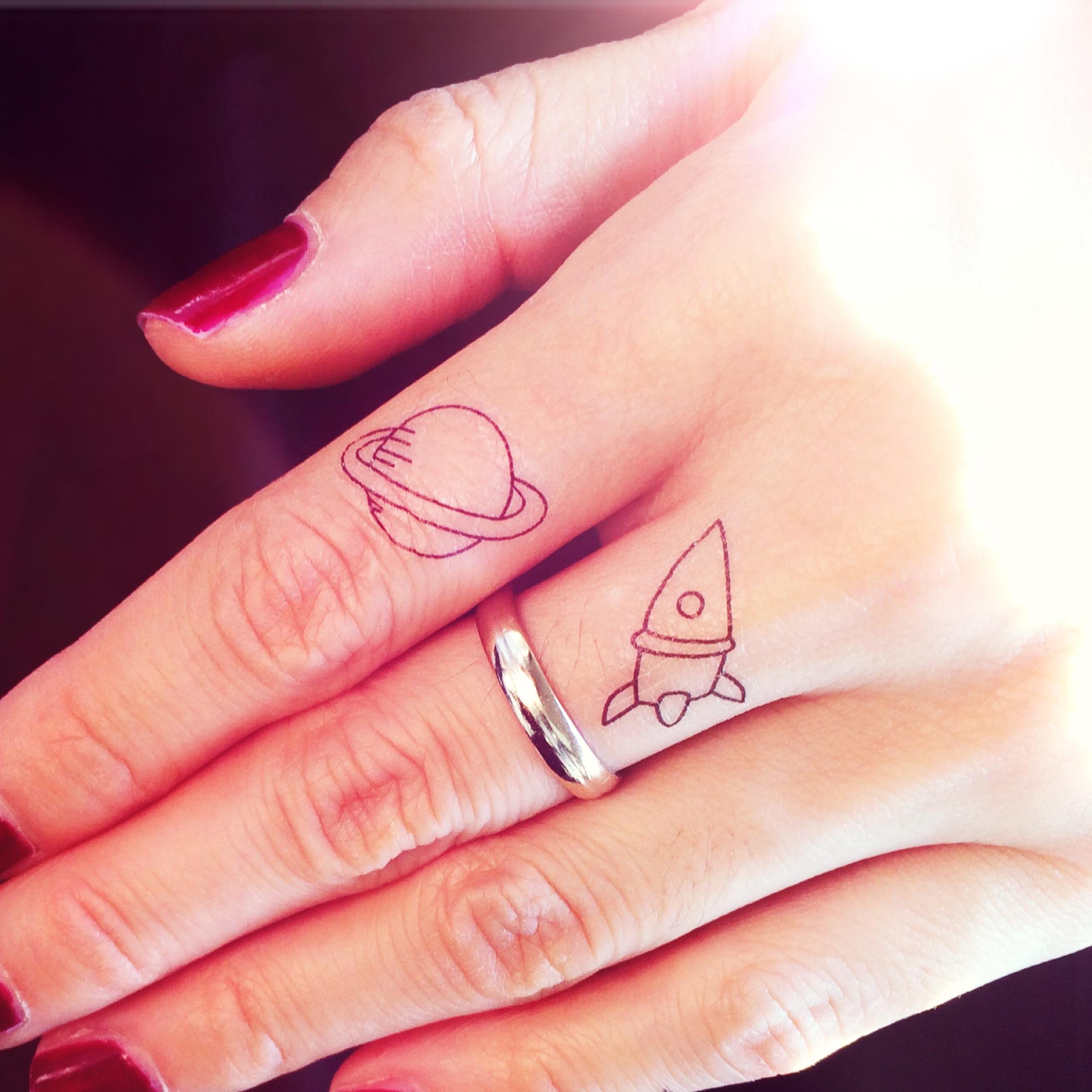 4pcs Jupiter Rocket Space tattoo - InknArt Temporary Tattoo - wrist ...