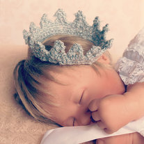 Newborn Crocheted Crown