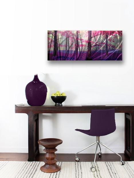 Contemporary Modern Decor Original Cherry Blossom Abstract Metal Wall Art