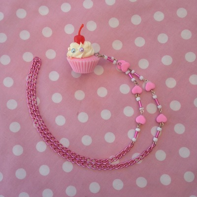 Oh So Kawaii: Pink Cupcake Necklace