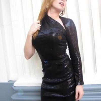 One shoulder black sequin party dress