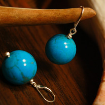 Turquoise Globe Earrings