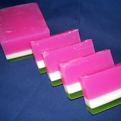 Watermelon goats milk soap