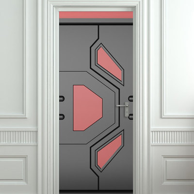 Door STICKER futuristic gate hi-tech star mural decole film self-adhesive poster 30x79 (77x200 cm) / · Pulaton · Online Store Powered by Storenvy & Door STICKER futuristic gate hi-tech star mural decole film self ...
