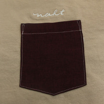Burgundy Pocket T-Shirt