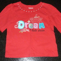 Red Long Sleeve Dream A Little Dream Shirt-Garanimals Size 4T