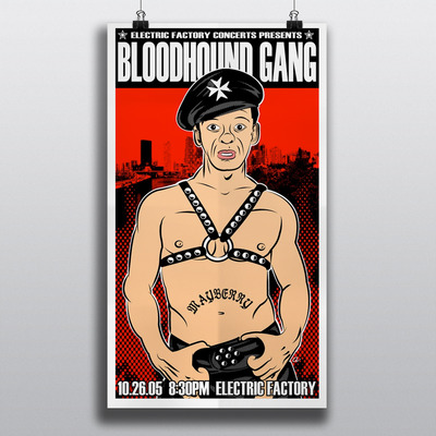 The bloodhound gang gigposter