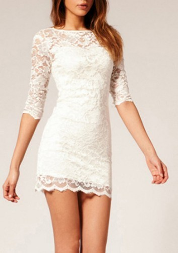 Lace Bodycon Dress (White And Black Available) On Storenvy