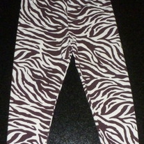 Brown Animal Print Leggings-No Brand Size 3T