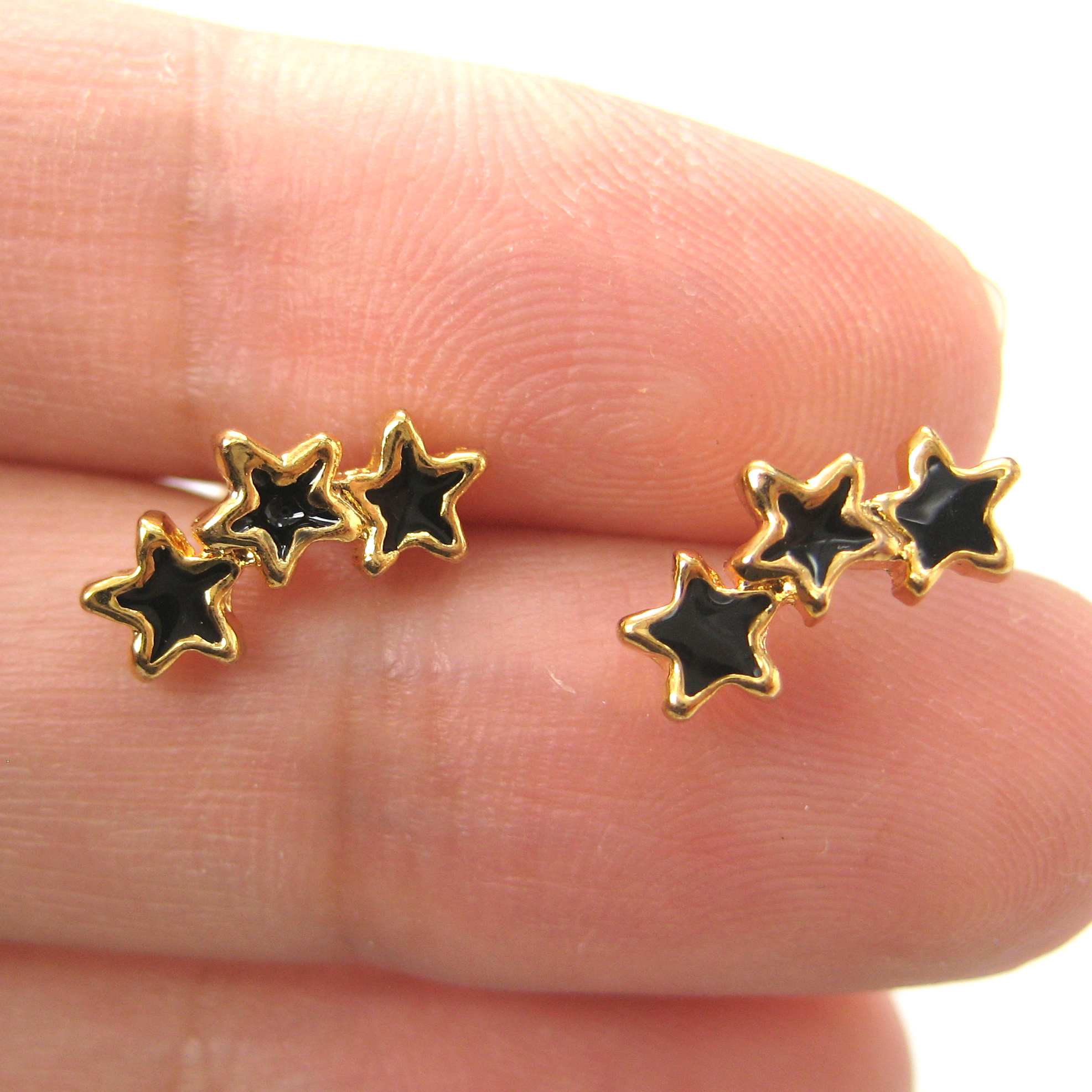 diamonds collections gold brushed stud in earrings studs small pyramid and yellow with products