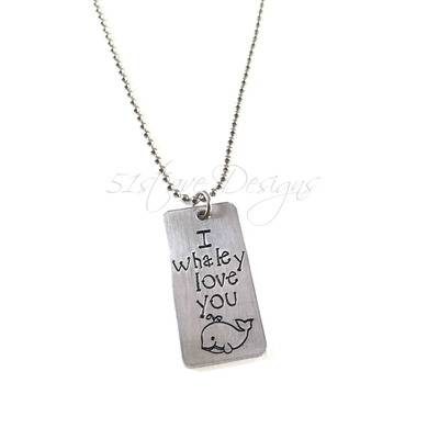 I whaley love you tag pendant