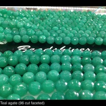 Teal Agate 8mm (Disco Ball shape)