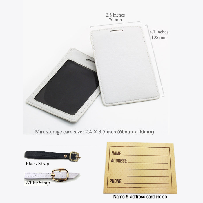 Personalized Pu Leather Luggage Tag Wedding Favor Tag Travel Bag