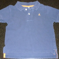 Navy Short Sleeve Polo Style Shirt-Baby Gap Size 3T