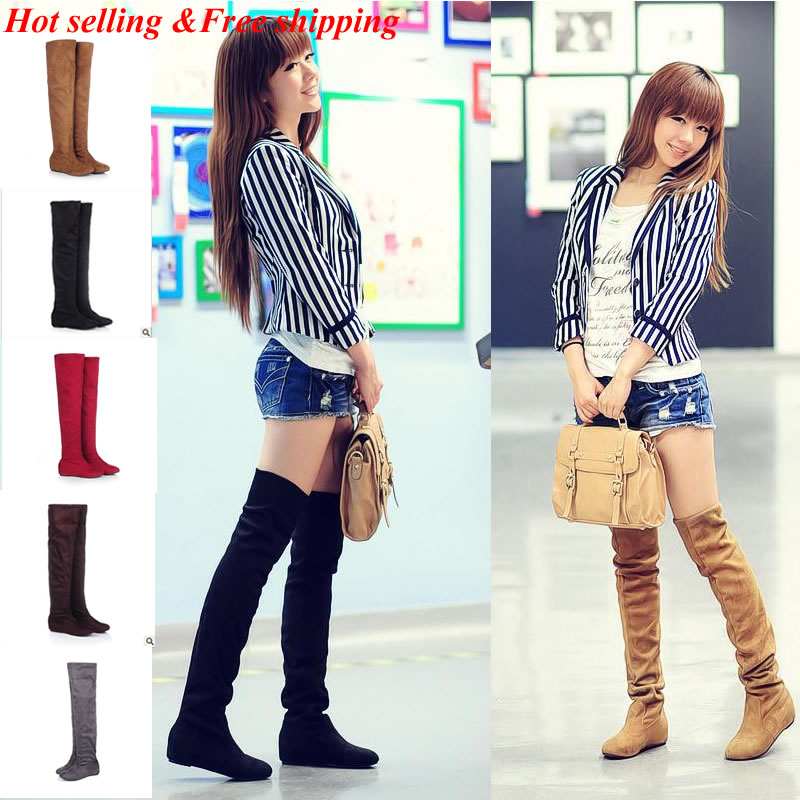 Black New 2014 spring boots woman Boots for women Sexy Inside Heel ...