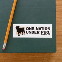 One Nation Under Pug :: Small Sticker