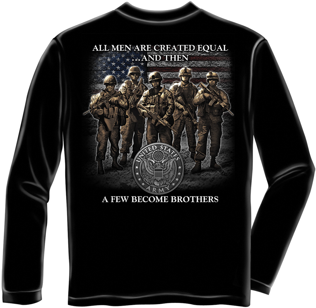 Officially licensed u s army veterans band of brothers for Shirts with graphics on the back