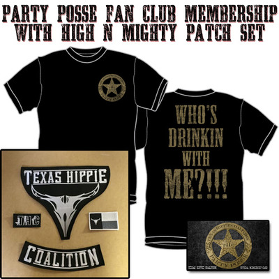 Party posse fan club membership with high n mighty patch set