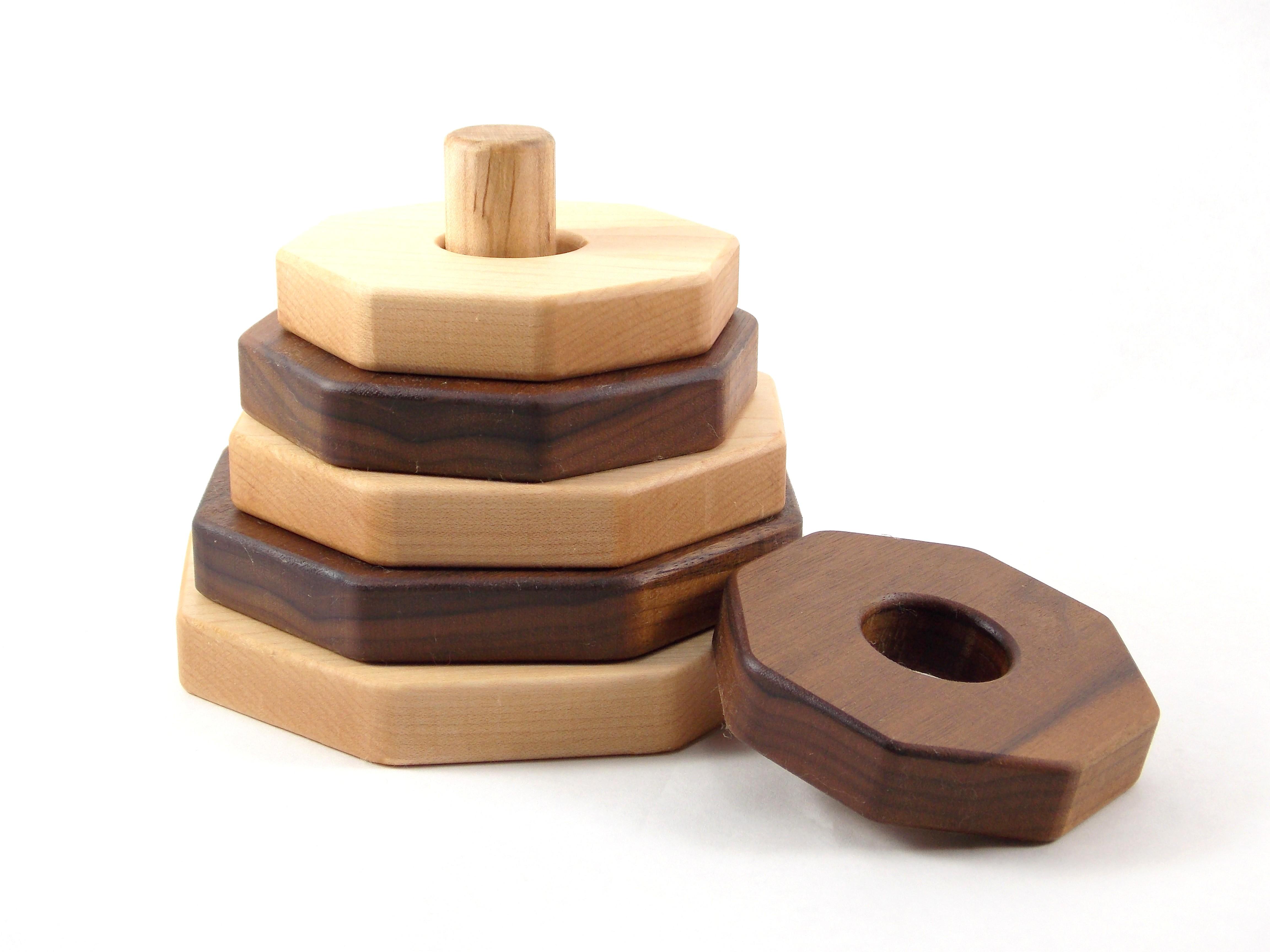 Octagon Shaped Wooden Stacker - Thumbnail 2