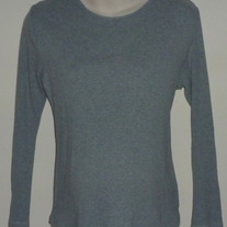 Gray Ribbed Long Sleeve Shirt-Motherhood Maternity Size Large