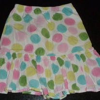 Multi Color Polka Dot Skirt-Gymboree Size 6