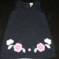 Black Dress with Flowers at Bottom-Old Navy Size 18-24 Months