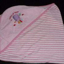 Pink Oceans of Hugs Hooded Towel