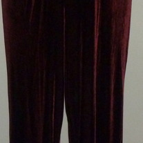 Burgundy Velour Pants-Tomorrows Mother Size XL