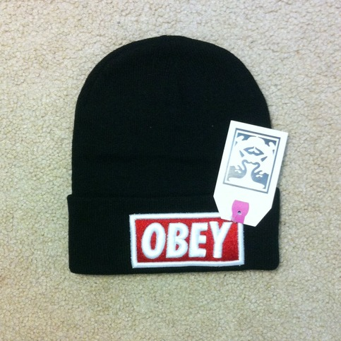inspired obey beanie cece online store powered by storenvy. Black Bedroom Furniture Sets. Home Design Ideas