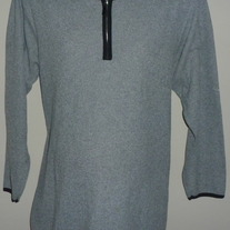 Gray Long Sleeve Shirt With Zipper-Zero2Nine Maternity Size Large