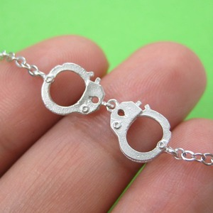 Detailed Handcuff Cuff Bracelet in Sterling Silver