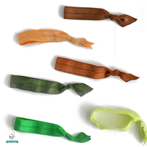 Elastic Hair Ties - Earth Tones - Set of 6