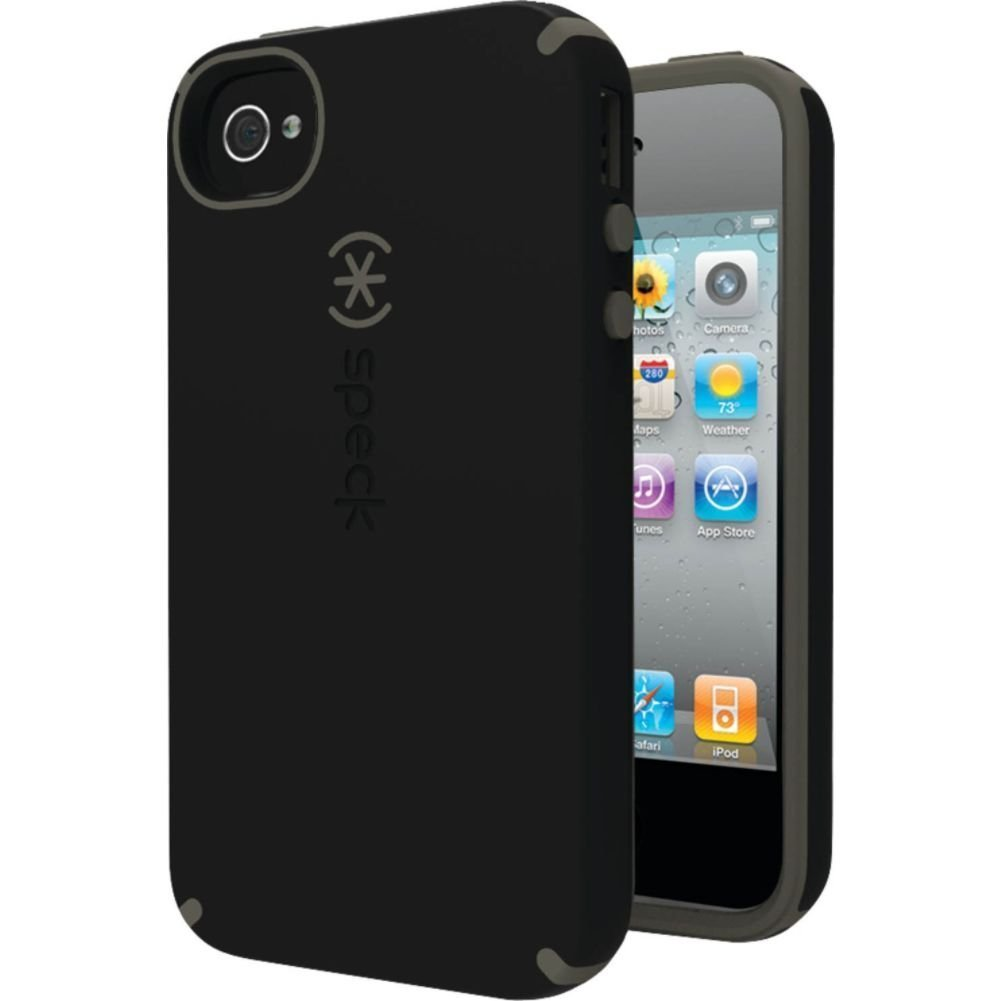 Speck Case Candy Shell iPhone 4/4s Case Black & Gray ...