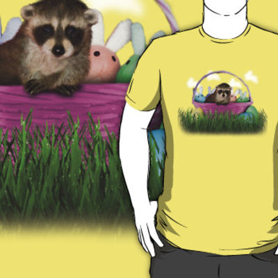 Easter raccoon t-shirt