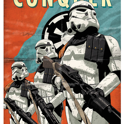 Conquer limited edition lithograph - artist proof