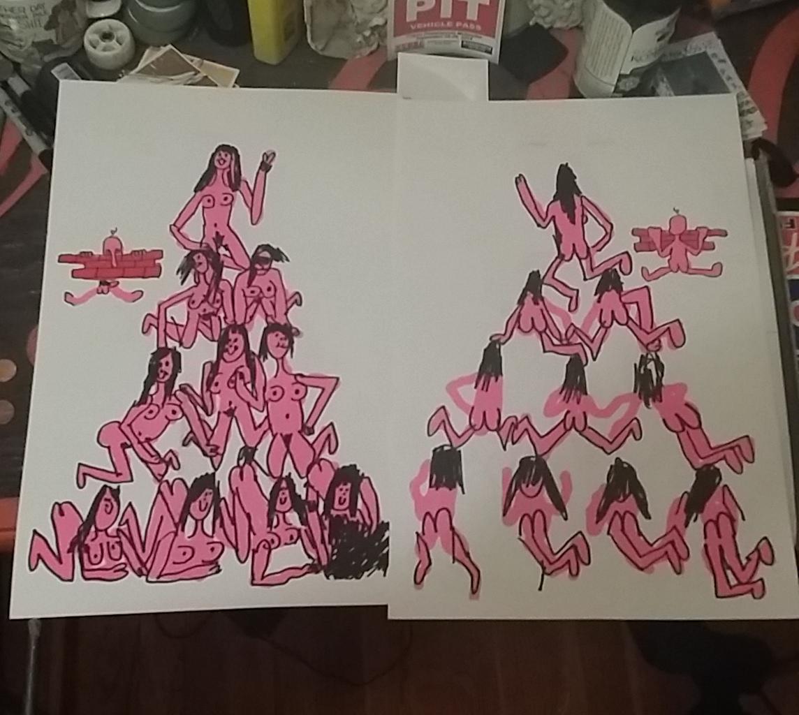 woman pyramid Naked