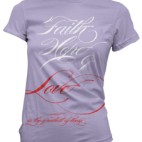 "[PRE-ORDER / LIMITED] Ladies' ""Faith, Hope, & Love"" T-Shirt - Thumbnail 3"