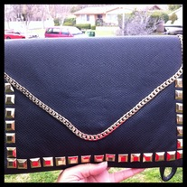 Black Studded Clutch/Purse