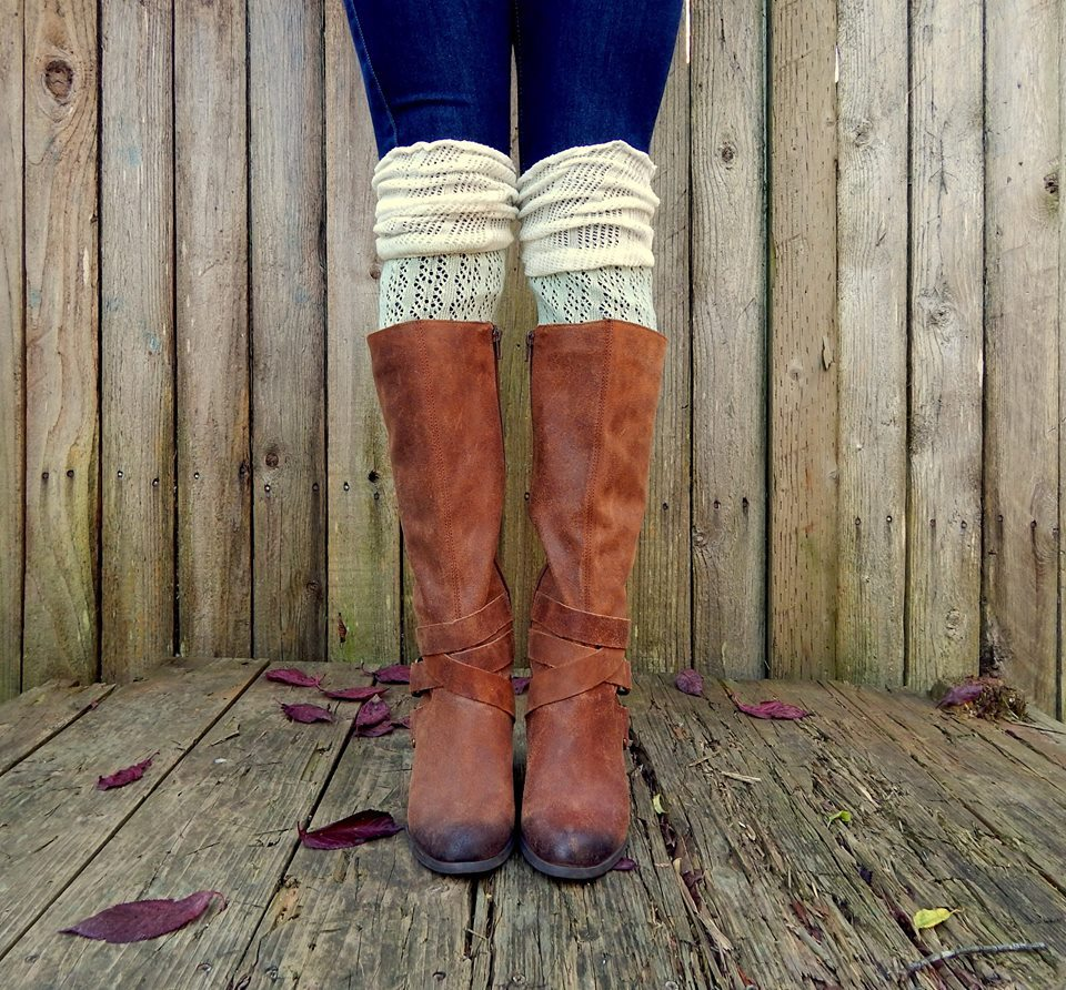 Tall Boot Socks over the knee Color block two tone rain boots ...