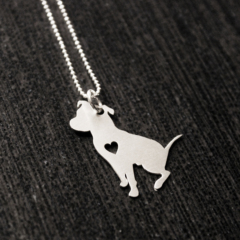 Sterling silver sitting pit bull necklace larry the dog sterling silver sitting pit bull necklace aloadofball Gallery